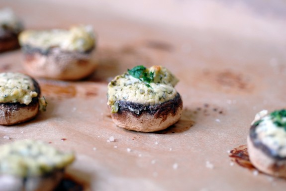 herb stuffed mushrooms recipe
