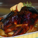 Balsamic Roasted Turkey with Apple Stuffing