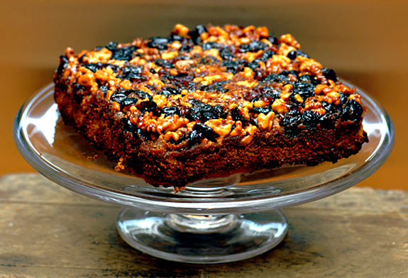 Cranberry Almond Upside Down Cake Recipe