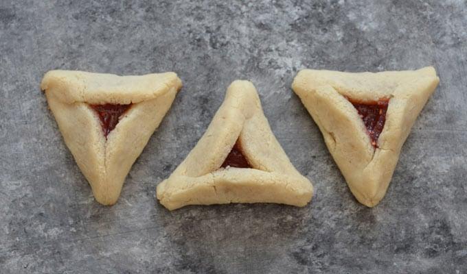 Gluten-Free Raspberry Hamantaschen