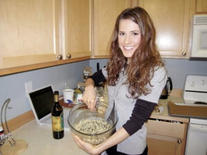 CoconutGal preparing elanaspantry.com Gluten Free Chocolate Chip Cookies