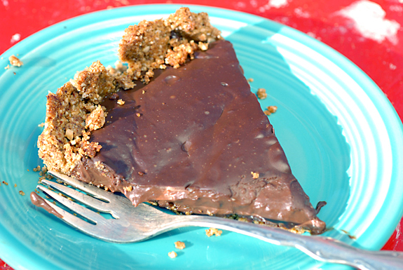 Chocolate Peanut Butter Tart Recipe | Elana's Pantry