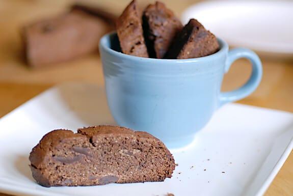 Double Chocolate Mocha Biscotti | Elana's Pantry