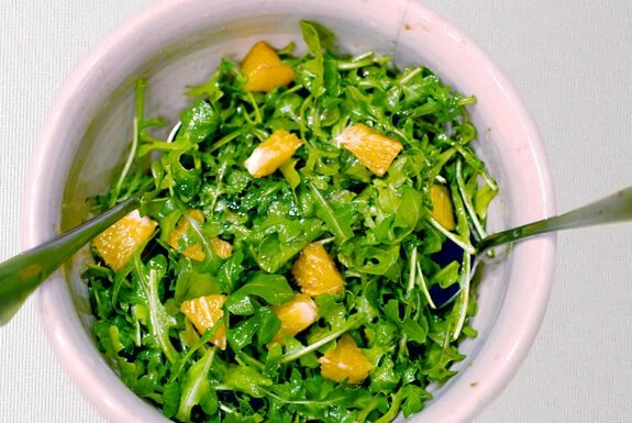 orange arugula salad paleo recipe