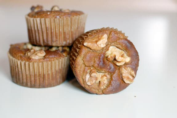 gluten free banana walnut muffins recipe