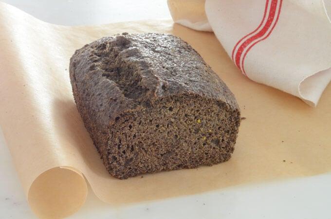 flax focaccia bread