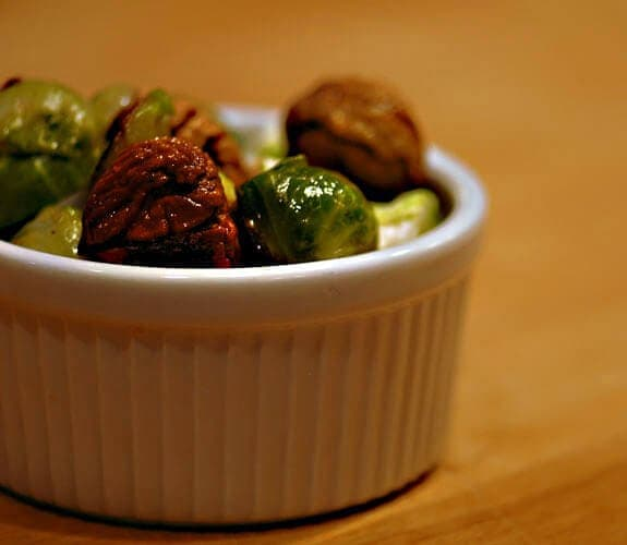 chestnuts with brussel sprouts paleo recipe