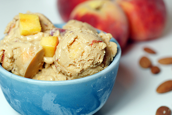 Vegan Peach Almond Ice Cream Recipe | Elana's Pantry