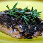 salmon with olive anchovy tapenade paleo recipe