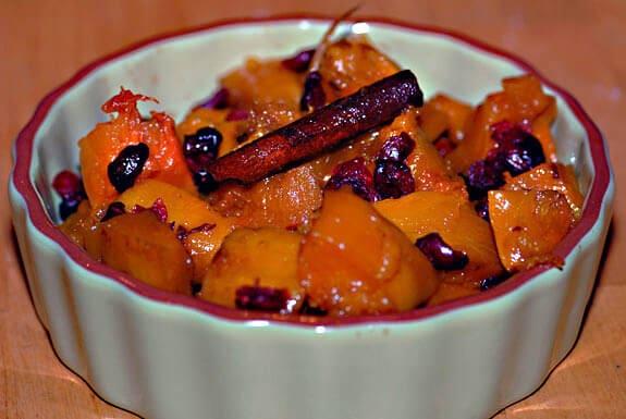 squash with cherries paleo side dish