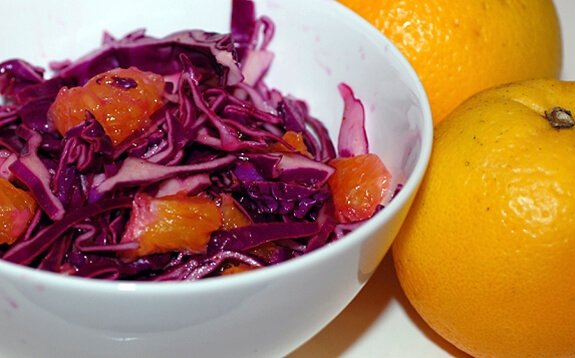 cabbage orange salad recipe
