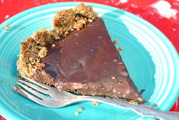 Chocolate Peanut Butter Tart Recipe | Elana's Pantry