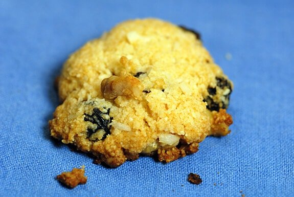 dina's delightful gluten-free coconut raisin cookies