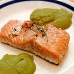 Thyme Salmon with Leek Coulis