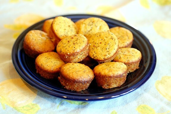 Lemon Poppy Seed Muffins | Gluten Free Mini-Muffin Recipe