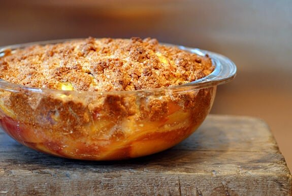 peach crisp gluten free recipe