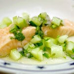 salmon with cucumber chile relish recipe