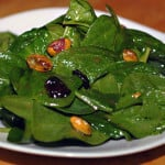 Spinach Salad with Pistachios