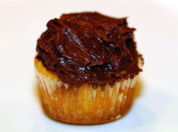 Vanilla Cupcakes with Chocolate Frosting | Elana's Pantry