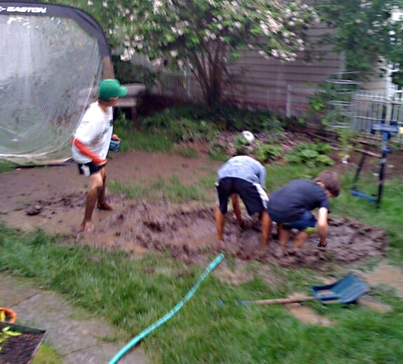 boys in the mud