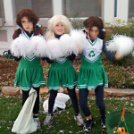 Halloween cheerleaders