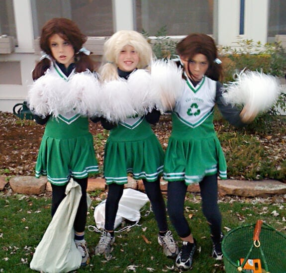Halloween cheerleaders