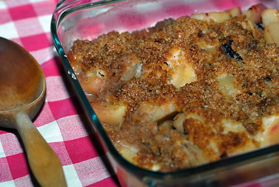 apple blackberry crisp recipe