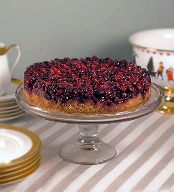 cranberry upside down cake - simplygluten-free