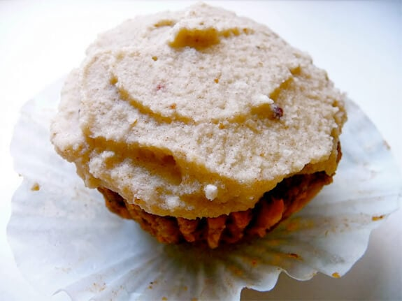 raw carrot cupcake with coconut cashew frosting - the daily diatribe