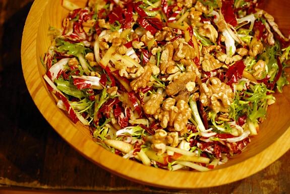 radicchio frisse salad with apples