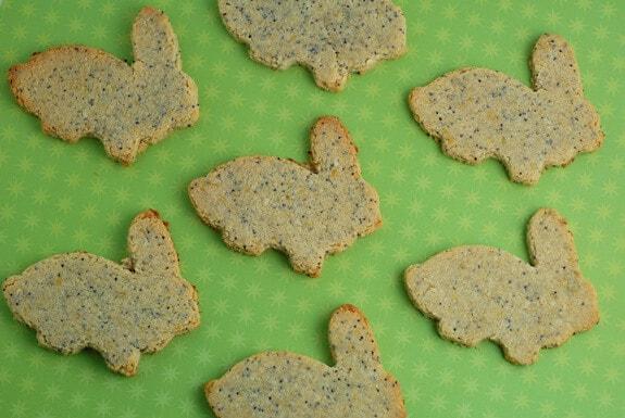 Lemon Poppy Seed Bunny Cookies