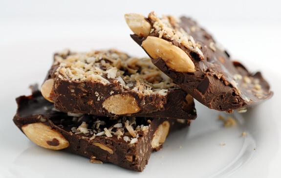 Almond Joy Chocolate Bark