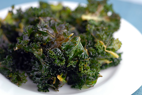Lemon Kale Chips | Elana's Pantry