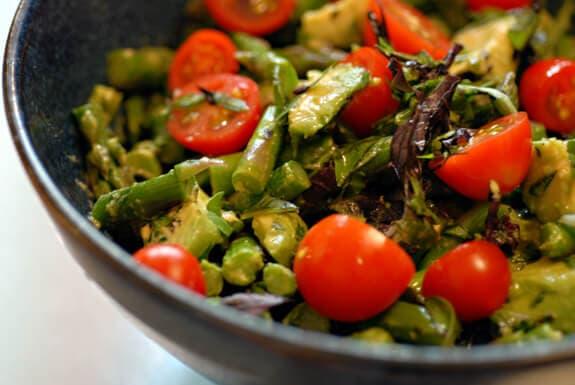 asparagus basil salad