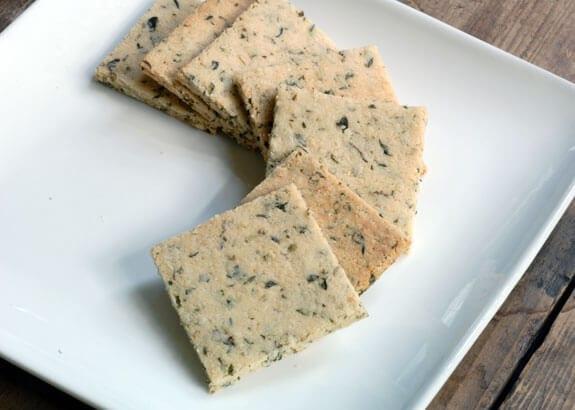 vegan herb crackers