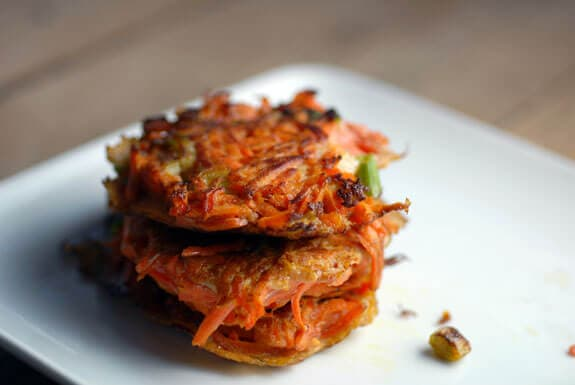 carrot scallion latkes gluten-free recipe