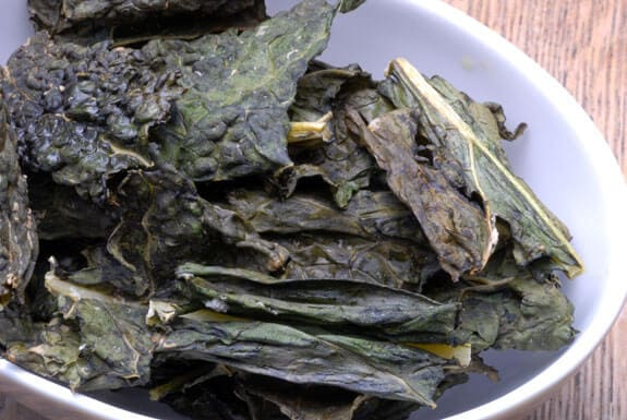 salt and vinegar kale chips gluten-free recipe