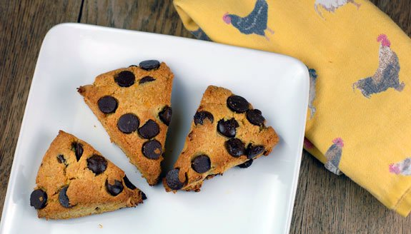 Orange Dark Chocolate Chip Scones Recipe | Elana's Pantry