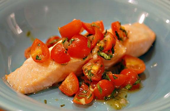 salmon tomato basil relish gluten-free recipe