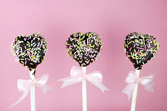 valentines day dark chocolate cake pops gluten-free recipe