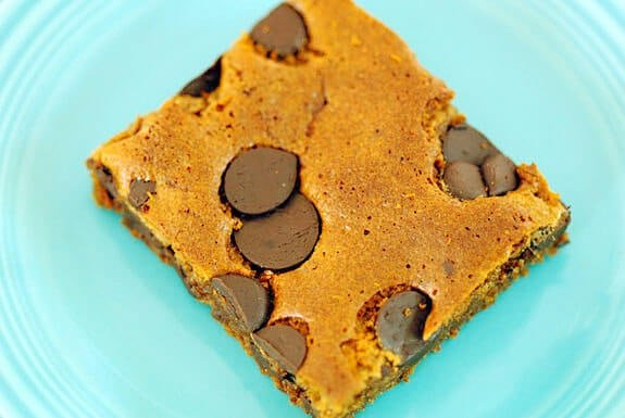 paleo almond butter blondies