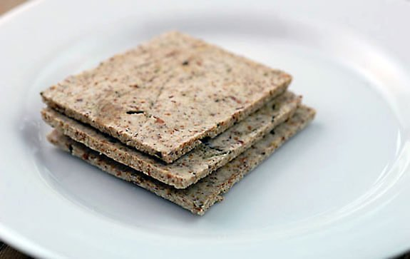 paleo almond pulp crackers
