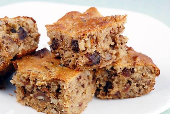 Gluten Free Date Walnut Cake