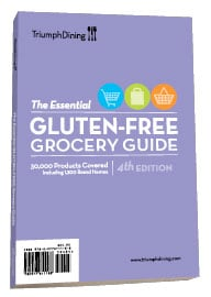 triumph dining gluten-free grocery guide