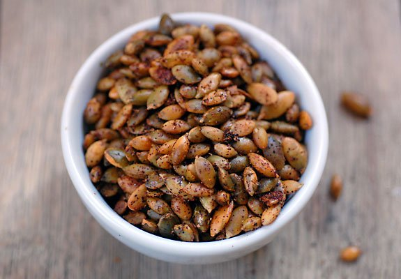 Chili Roasted Pumpkin Seeds | Spicy Pumpkin Seeds Recipe