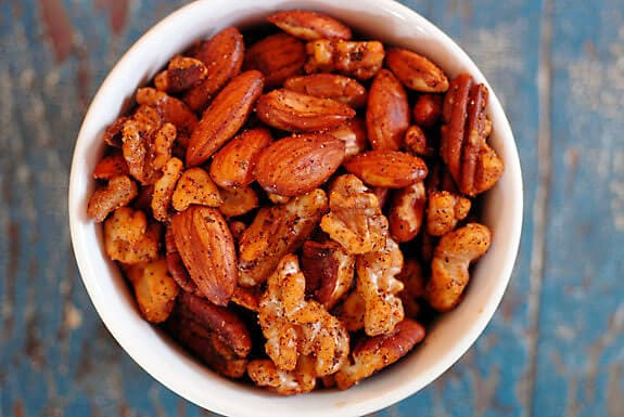 paleo spiced nuts vegan gluten-free recipe