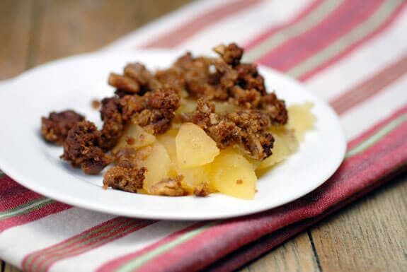 gingerbread apple crisp gluten-free recipe
