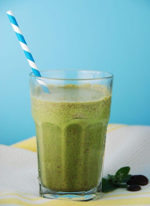 Dairy-Free Mint Chip Protein Shake Recipe | Elana's Pantry