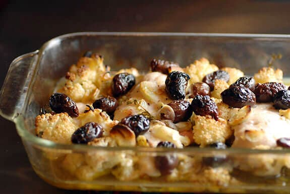 chicken with cauliflower and olives