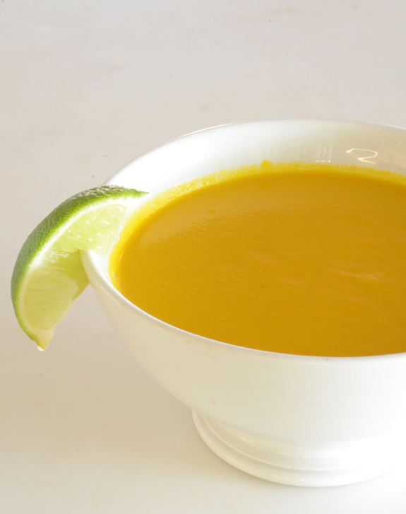 Organic Carrot Soup With Ginger Essence Recipe — Dishmaps